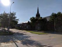 Первая церковь лютеранина в Sioux Falls, Южной Дакоте Стоковые Фото