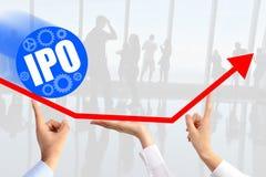Первичное публичное предложение & x28; IPO& x29; или концепция старта фондовой биржи Стоковое Изображение RF