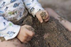 первое время ящика с песком Стоковая Фотография RF
