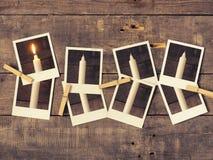 Первое горение свечи, предпосылка пришествия Стоковые Фото