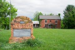 Первое здание суда Pulaski County - Newbern, Вирджиния, США Стоковая Фотография