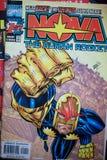 Первое издание комика супергероя отличая характером вызвало Нову, стоковая фотография rf