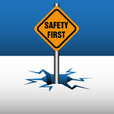 первое предупреждение безопасности плиты бесплатная иллюстрация