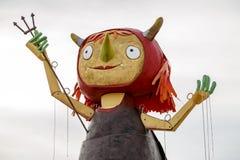 Первое Demonieta праздников в мае в Бадалонае Стоковые Изображения RF