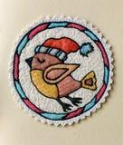 Первоначальное изображение сделанное путем швейная машина ткани и потока бесплатная иллюстрация