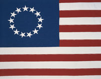 Первоначально колониальный флаг стоковые изображения rf