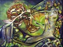 Первоначально масло художественного произведения конспекта картины стоковая фотография rf