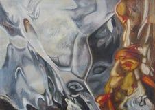 Первоначально масло художественного произведения конспекта картины стоковое изображение rf
