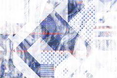 Первоначально предпосылка с простыми геометрическими формами Стоковые Фотографии RF