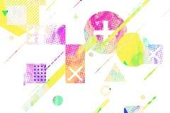 Первоначально предпосылка с простыми геометрическими формами Стоковое Изображение RF
