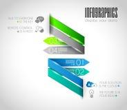 Первоначально шаблоны Infographics стиля Стоковые Изображения