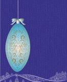 Первоначально шарик рождества с декоративной картиной Стоковые Изображения