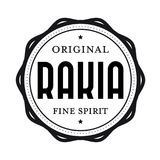 Первоначально штемпель Rakia винтажный Стоковое Фото