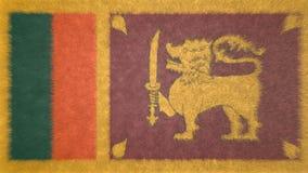 Первоначально 3D изображение, флаг Шри-Ланки бесплатная иллюстрация