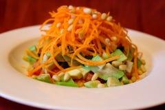 Первоначально vegetable салат с гайками Стоковое Изображение RF