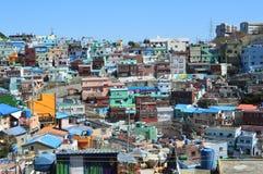 Первоначально и красочные здания в Пусане, Южной Корее Стоковая Фотография RF