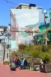 Первоначально и красочные здания в Пусане, Южной Корее Стоковые Фото
