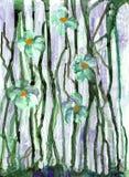 Первоначально картина акварели иллюстрация штока