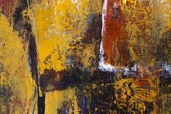 Первоначально картина маслом на холстине, крупном плане, покрашенной руке Стоковое фото RF