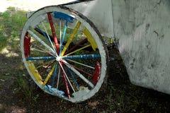 Первоначально добившийся успеха своими силами колесо для тележки Стоковое фото RF