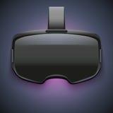 Первоначально стереоскопический шлемофон 3d VR иллюстрация вектора