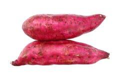 первоначально сладостные японские картошки изолированные на белизне Стоковая Фотография