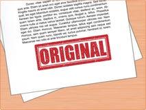 Первоначально текст избитой фразы на бумаге Стоковые Фотографии RF