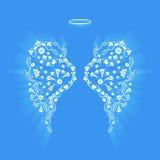 Первоначально флористические крыла и Nimbus ангела Стоковые Изображения RF