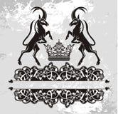 Первоначально   черный цветочный узор с грифонами Стоковое Изображение