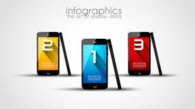Первоначально шаблон Infographics стиля Стоковая Фотография