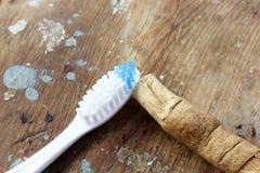 Первоначально miswak зубной щетки с современной зубной щеткой Стоковые Фотографии RF