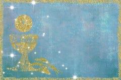 Первые карточки приглашений святого причастия Стоковое Изображение RF