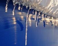 первые icicles стоковые фото