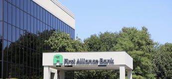 Первый банк союзничества Стоковые Изображения
