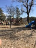 Первый весенний день на парке Стоковое Изображение RF