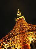 Первый взгляд на башне Токио стоковое фото rf