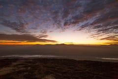 Первый восход солнца на скале Chana Dai Стоковая Фотография RF