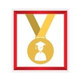 Первый класс удостаивает градации золотой медали Стоковая Фотография
