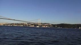 Первый мост Босфора в Стамбуле акции видеоматериалы