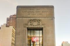 Первый национальный городской банк Нью-Йорка Стоковая Фотография RF