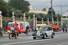 Первый парад Москвы перехода города Стоковая Фотография