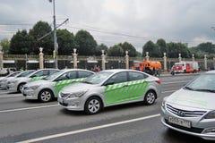 Первый парад Москвы перехода города Стоковая Фотография RF