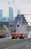 Первый парад Москвы перехода города Стоковое Изображение RF