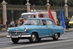 Первый парад Москвы перехода города Стоковое фото RF