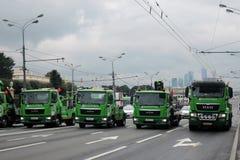 Первый парад Москвы перехода города Стоковые Изображения