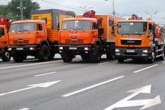 Первый парад Москвы перехода города Стоковое Фото
