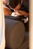 Первый поцелуй после wedding Стоковая Фотография RF