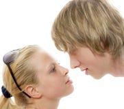 первый поцелуй Стоковая Фотография RF