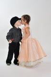Первый поцелуй. Стоковая Фотография RF