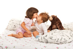 Первый поцелуй Стоковое Изображение RF